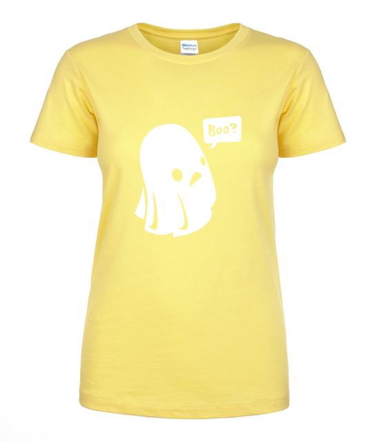 Ghost Boo Print Halloween T-shirt