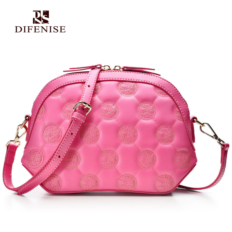 Difenise Design Chinese National Women Zipper Close Leather Handbags Embroidery Shell HandBags Pink Color High Quality  Hot 100 super cute little embroidery chinese embroidery handmade art design book