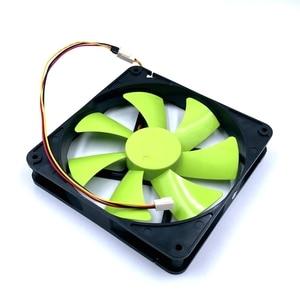Image 4 - New 140mm fan DF1402512SEL DC 12V 0.12A sleeve 3 Pin 140x140x25mm pc case Server cooling Fan 1500RPM