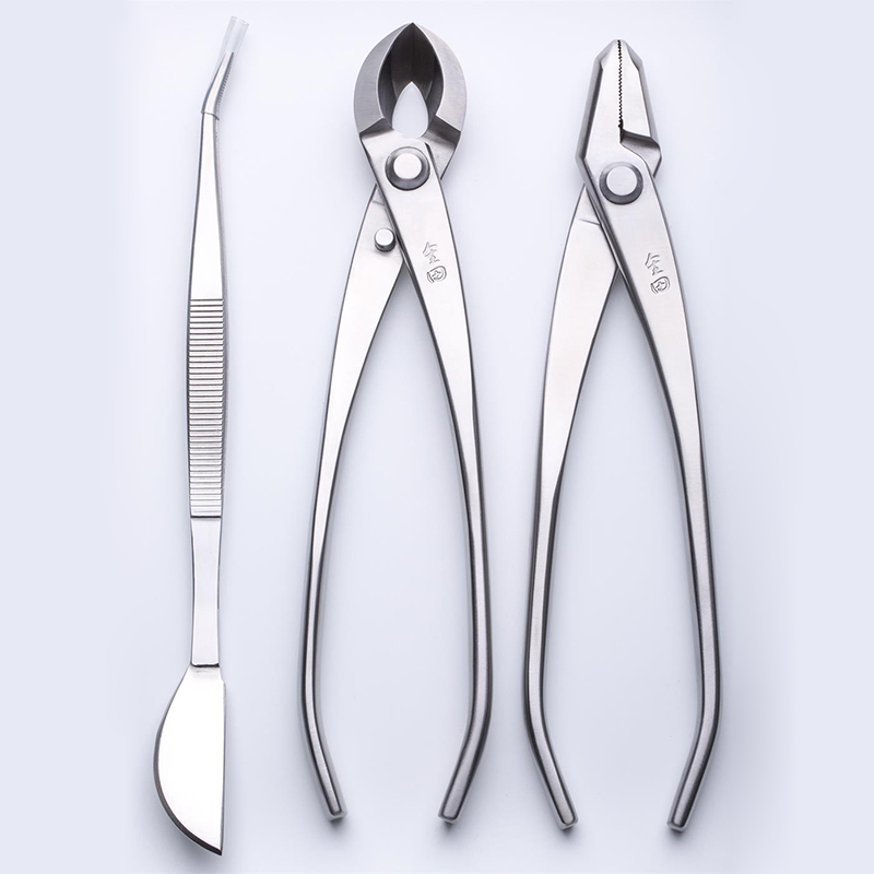 3 PCS Bonsai tool Set JTTK 20 Jin Pliers Round Edge Cutter Bonsai Tweezers Master Grade