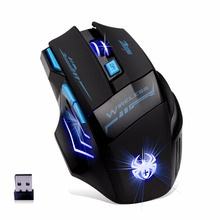 Фотография Wireless Mouse gaming mouse 7button 7200 DPI wireless mouse gamer mice wireless maus Adjustable bluetooth gaming Mouse