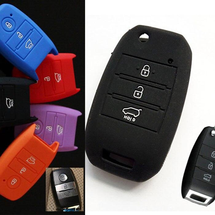 Fit For Kia Optima 2016 Sportage 2014 2015 Sorento Soul 2013 Rio Forte Cerato Carens K3 K5 Silicone Key Cover Remote Fob Case(China)