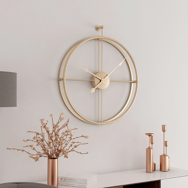 55cm Large Silent Wall Clock Modern Design Clocks For Home Decor Office European Style Hanging Wall Watch Clocks gold metal duvar saati