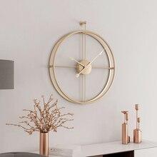 55 см большие бесшумные настенные часы современные дизайнерские часы для домашнего декора офис Европейский стиль Висячие настенные часы