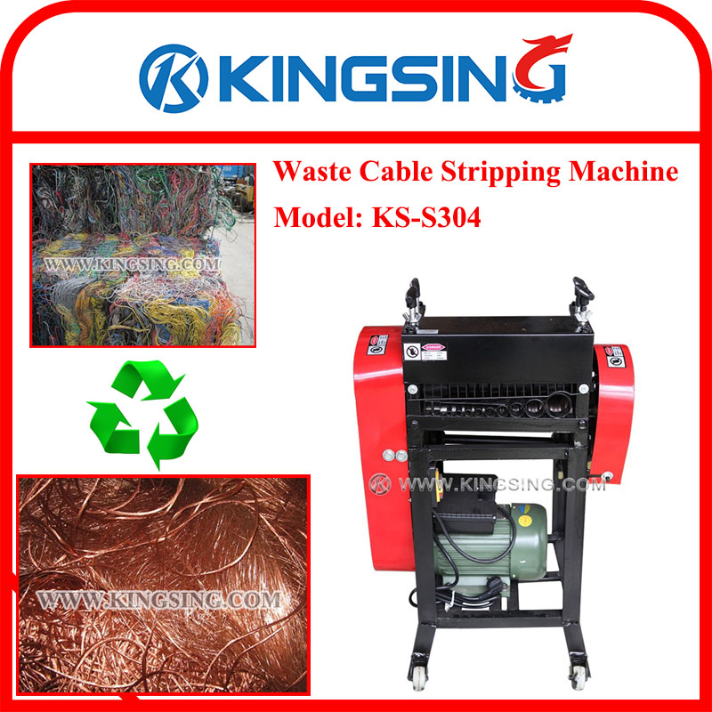 hot sale scrap wire  cable peeling machine  scrap wire  cable recycling machine ks s304 dhl free Scrap Steel scrap car wiring harness
