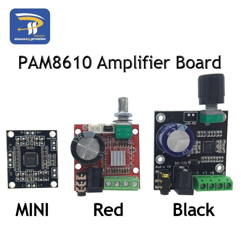 Pam8610 placa amplificador de potência digital 2x15w duplo canal estéreo mini classe d 12 v mini hi-fi módulo estéreo de áudio 2x10 w