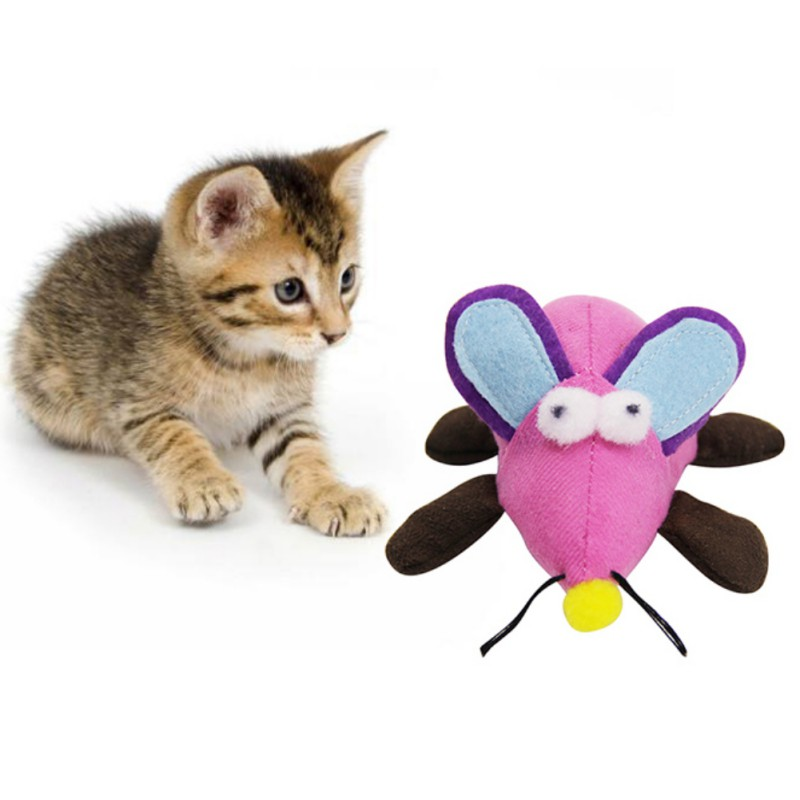 Pet Cat Toys Teaser Cats Toy Interactive Rope Vibrate Mice Toy Interesting and Non-toxic Mice Toy Color Random