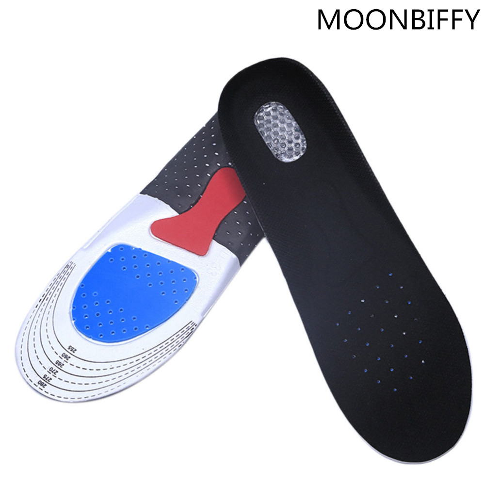 Free Size Unisex Orthotic Arch Support Sport Shoe Pad Sport Running Gel Insoles Insert Cushion for Men Women ...