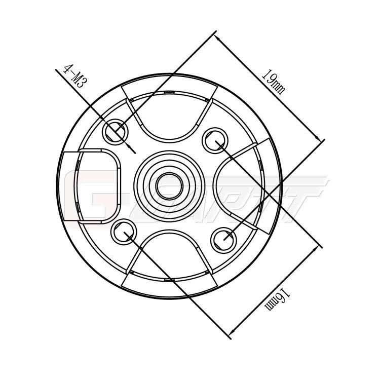 Gartt 6pcs Ccw Ml2212s 920kv 230w 2212s Motor For Dji Phantom