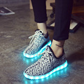 2017 Fashion Children Luminous Sneakers USB Charging Casual Sport Running Shoes for Kids Breathable Girls&Boys Led Light Shoes