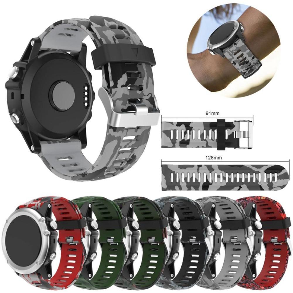 Watch band For Garmin Fenix 5X GPS Watch Replacement Silicagel Soft Band Strap For Garmin Fenix 5X GPS Watch M.151 garmin approach white s3 gps watch certified refurbished