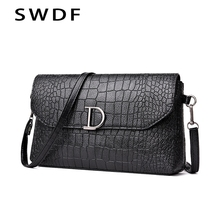 SWDF Brand Designer Women Messenger Bags Tactical Shoulder Bag In Buckets Handbag in Womens Totes Clutches  Casual