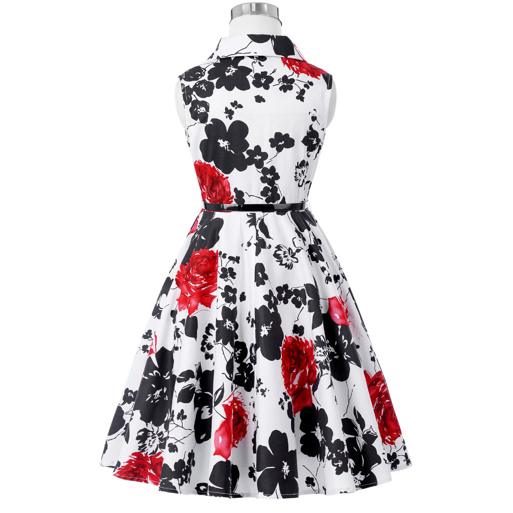 Grace Karin Flower Girl Dresses for Weddings 2017 Sleeveless Polka Dots Printed Vintage Pin Up Style Children's Clothing 28