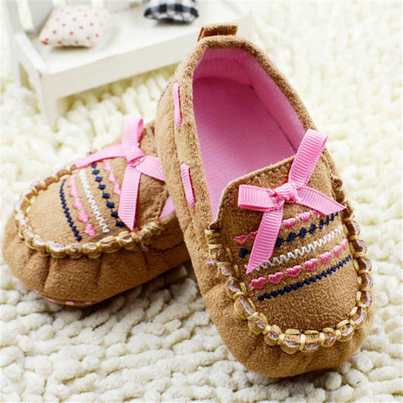 Lovely Brown Casual Infant Baby Shoes Soft Sole Toddler Cotton Crib Shoes Pre-walker 0-18M