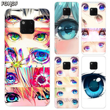 Charming Beautiful Eyes TPU Silicone Phone Back Cases For Huawei Mate 20X 20 10 9 Pro 8 7 Shell Hull Heart Bumper Cover
