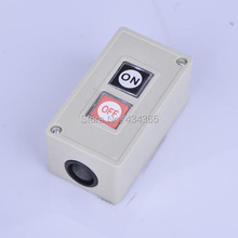 Free shipping 250VAC 3A 4mm Diameter Threaded Mounted Momentary Button Switch w Control Box