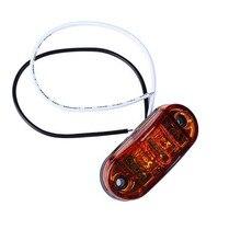 10 шт. 12 В 24 В желтая сторона прицеп грузовика Включите свет Светодиодный Маркер габаритный фонарь Pro