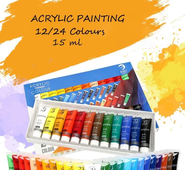 conjunto de pintura a cores para a