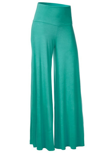 Women's Fashion Wide Leg Comfy loose Dance Fold Down Waist Pants