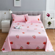 3 pcs Flat Sheet Sets With Pillowcase for Single Bed Sheets For Children Cartoon twin full queen