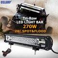 "270W 20"" CREE Chips LED Light Bar Offroad 3 Rows Spot Flood Combo Beam Led Work Light Bar Truck SUV ATV 4x4 4WD 12v 24v RZR Van"