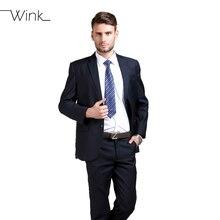 (Chaquetas + Pantalones) Trajes de hombre Vestido de Boda Slim Fit Tuxedo Marca Moda Blazer Nuevo Trabajo de la Llegada Abrigo Masculino Terno masculino B066