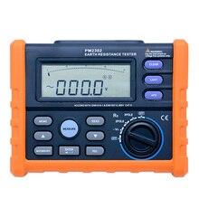 디지털 접지 접지 저항 전압 테스터 미터 0 ohm ~ 4 k ohm 100 그룹 백라이트가있는 데이터 로깅 promex ms2302