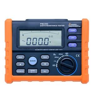 Digitale Grond Aarde Weerstand Spanning Tester Meter 0 ohm tot 4K ohm 100 Groepen Datalogging met Backlight PROMEX MS2302
