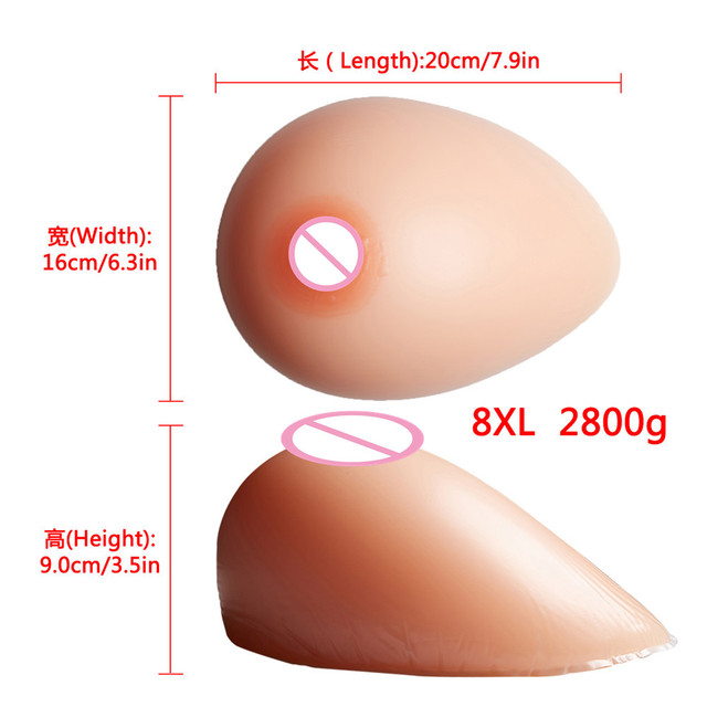 Big Promotion Artificial Breast Forms Silicone Breast Fake Boobs 2800g/pair For Drag Queen Crossdresser Transgender