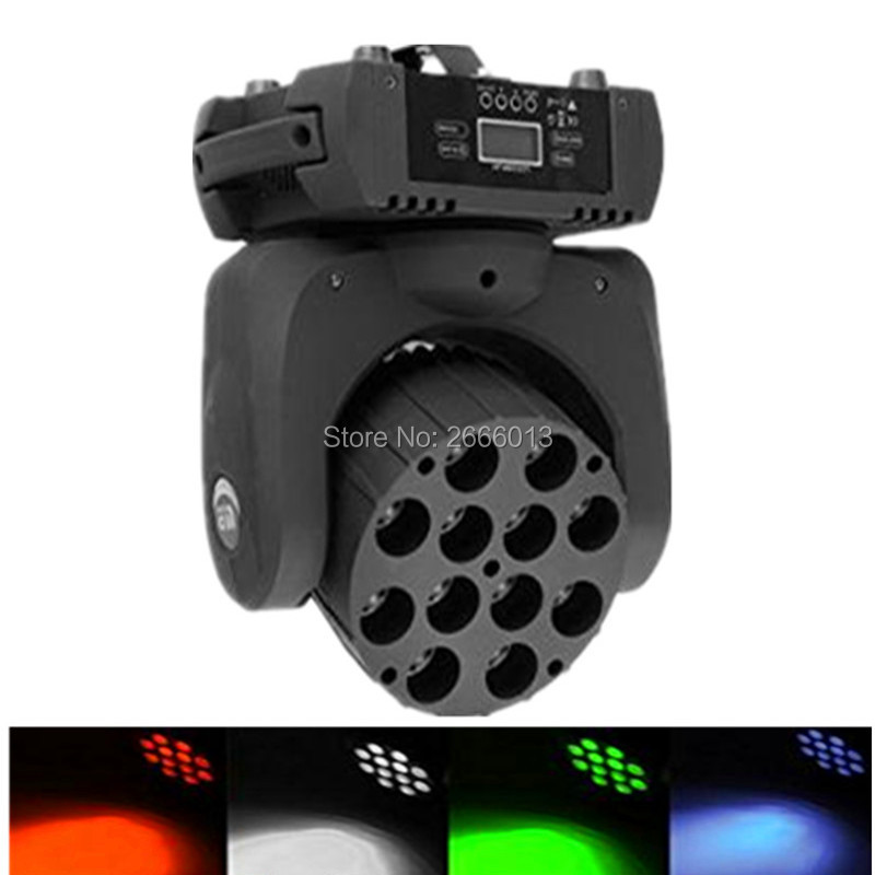 12x12W RGBW 4in1 Led Moving Head Beam Light DMX512 Disco Party Club Pub Show Led Linear Beam Lights LED Wash Stage Effect Light tiptop tp l682 crazy beam 40 fusion led moving head beam light 40 watt quad rgbw with led ring dmx512 for stage light disco rgb
