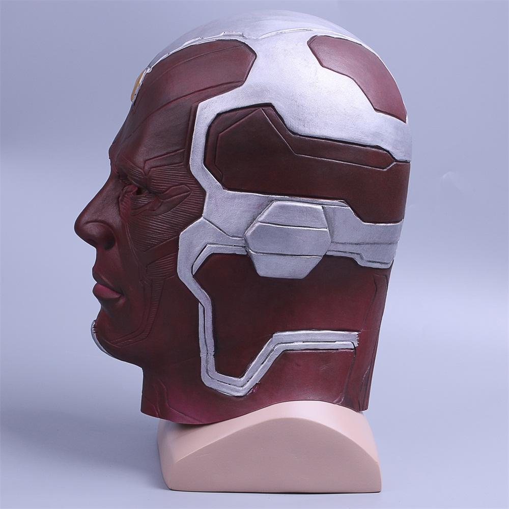 Cosplay Marvel Vision Mask Superhero Mask Full Head Halloween Helmet Latex New (7)