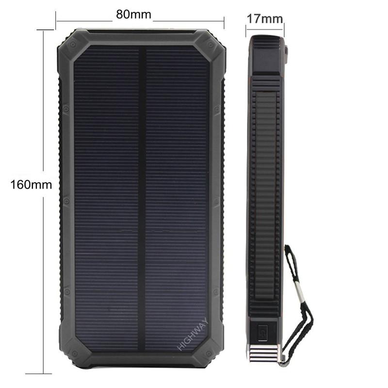 PowerGreen Solar Powerbank Carabiner Design Design Mbushës dyfishtë - Aksesorë dhe pjesë të telefonit celular - Foto 2