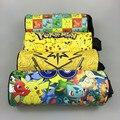 (1 Pcs/Venda) PU Go Pikachu Pokemon Caso Zíper Lápis Escola Suprimentos Presente de Natal Papelaria Estuches Bts Sacos de Lápis da escola