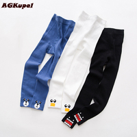 AGKupel Children Knitting Girls Leggings Kids Cotton Print Pants For Baby Girl Spring Autumn Children S