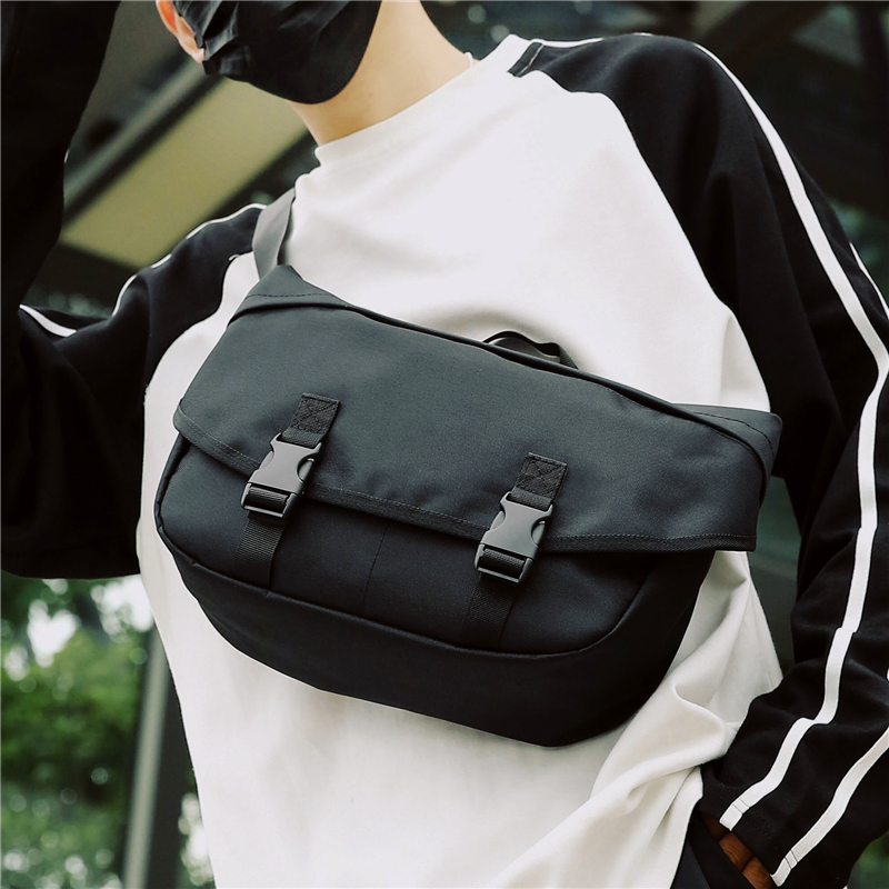 Casual Chest Pack For Men Functional Tactical Chest Bag Shoulder Bags Multi-Function Outdoor Travel Messenger Bag Waist Packs