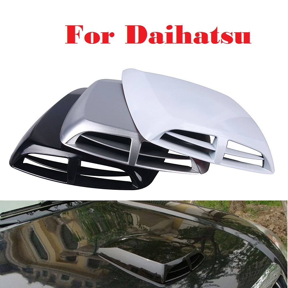 car styling Car Stickers Scoop Turbo Bonnet Vent Cover Hood Decorate For Daihatsu MAX Mira Mira Gino Sirion Sonica Terios Trevis 2017 air flow intake hood scoop vent bonnet cover car stickers for alfa romeo disco volante giulietta gt gtv mito spider