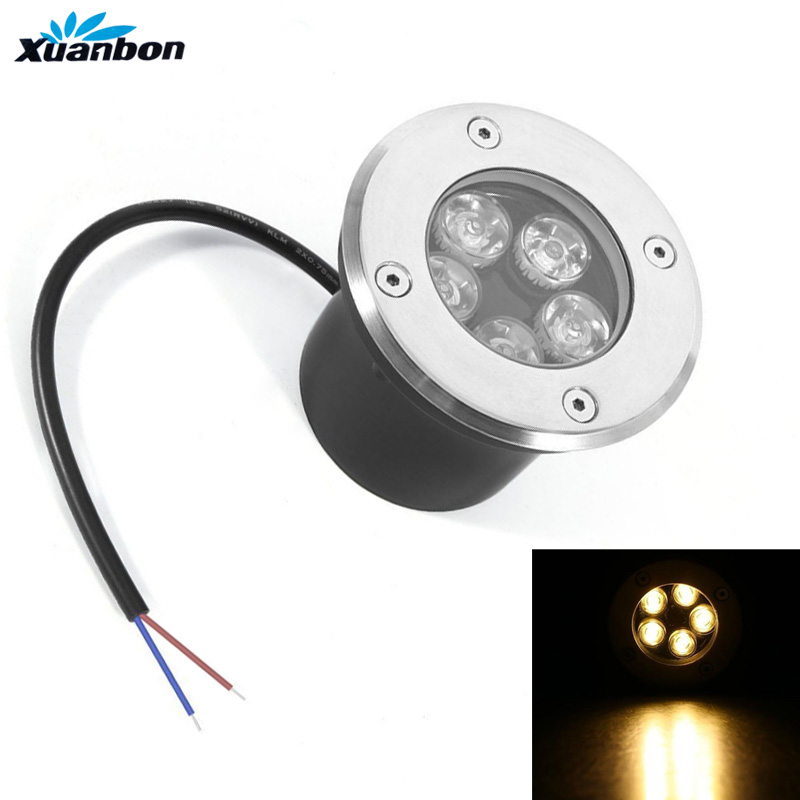 Humorous 1pcs Led Buried Light 1w 3w 5w Ip68 Waterproof 85-265v Outdoor Underground Lamp Bulb For Ground Garden Path Floor Yard Landscape Factory Direct Selling Price Led Underground Lamps