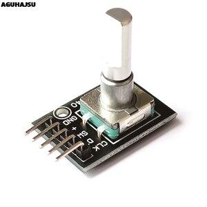 Модуль с поворотным кодовым датчиком на 360 градусов для Arduino, переключатель с датчиком кирпича, макетная плата, с штифтами, в комплекте с разъ...