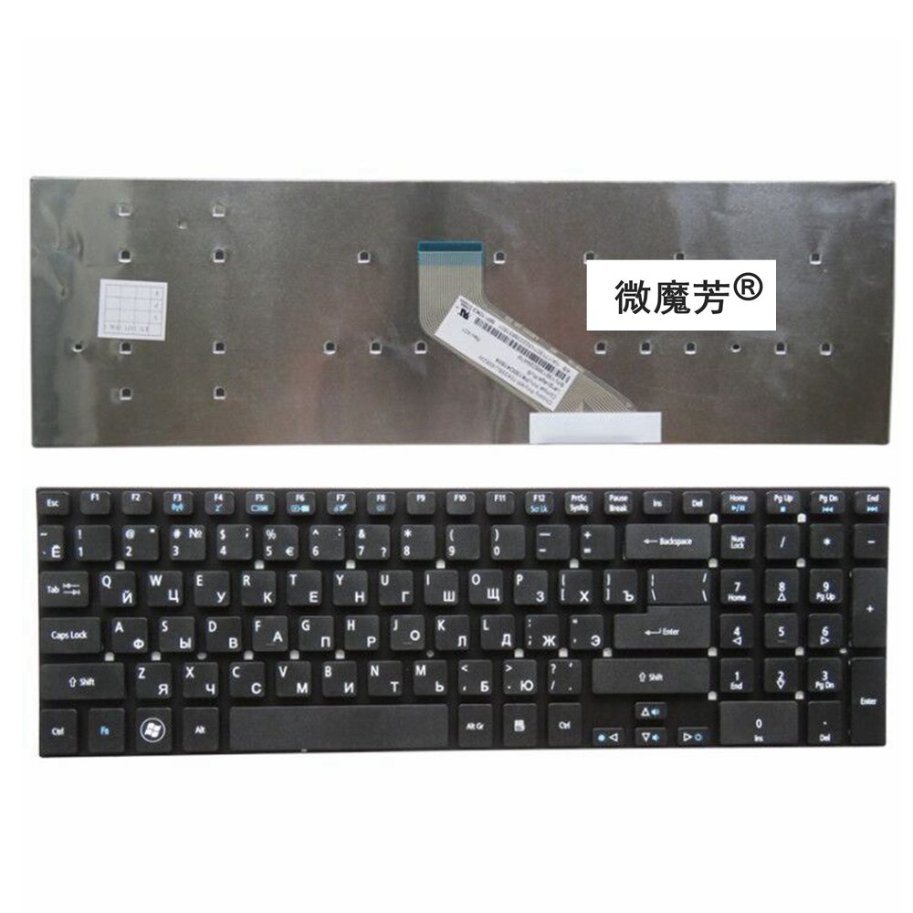 Russian Laptop Keyboard for Acer Aspire E15 E5-572 v3-572 KB.I170A.402 KB.I170G.310 MP-10K33SU MP-10K33SU-5281 MP-10K33SU-6981W laptop keyboard for clevo p650 mp 13h86tqj430b 6 80 p6500 251 1 mp 13h86n0j430b mp 13h86i0j430b mp 13h86p0j430b 6 80 p6500 151 1