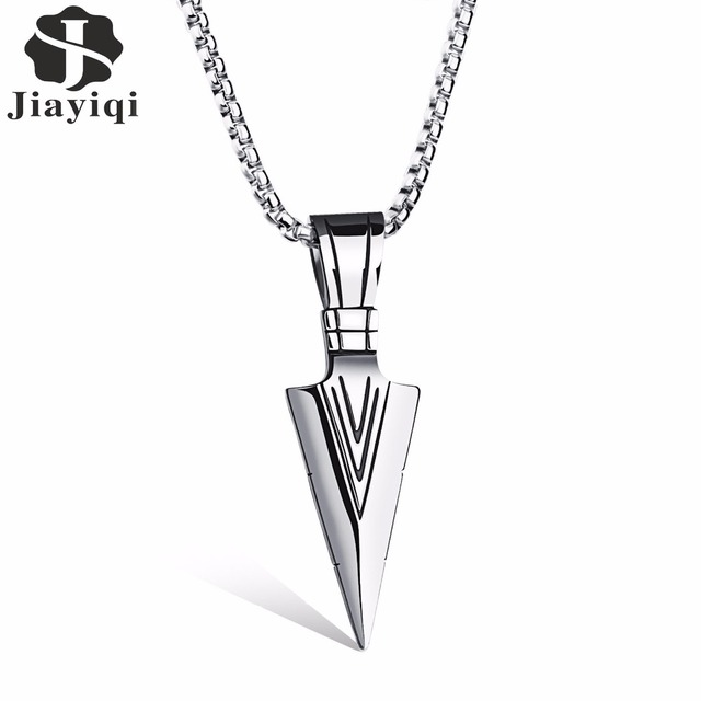 Jiayiqi 2017 new arrow stainless steel necklaces pendants fashion jiayiqi 2017 new arrow stainless steel necklaces pendants fashion cool male necklace punk jewelry personalized aloadofball Images
