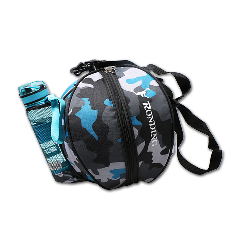 Outdoor Sports Shoulder Soccer Ball Bags Training Equipment Storage Mesh Side Two-way Open Ball Bag Volleyball Basketball