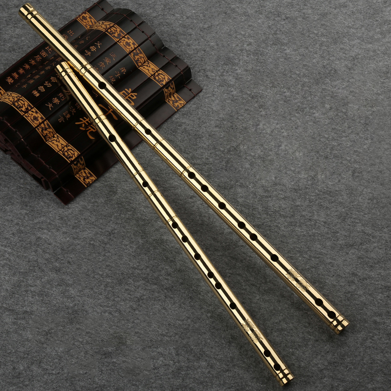 Professional H62 Brass Tube CDEFG Key 8 Holes Flute Instrument Chinese Metal Flute China classic Woodwind music instrument