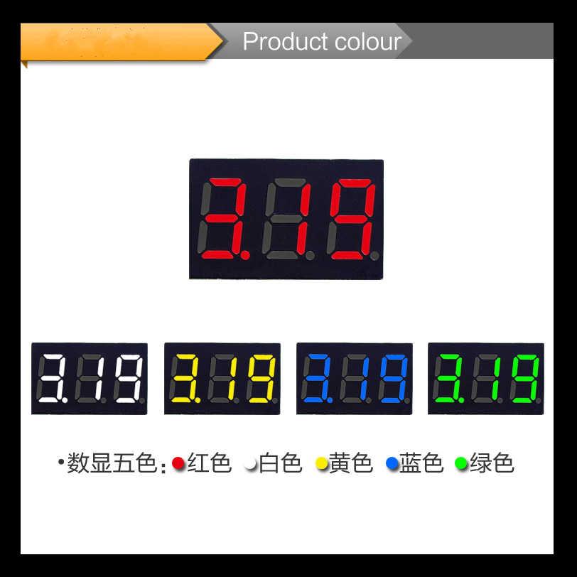 Diy赤青デジタルledミニディスプレイモジュールDC2.5V-32V dc0-100v電圧計電圧テスターパネルメーターゲージ用オートバイ車