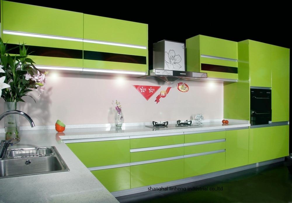 Alto brilho/laca armário de cozinha mordern (LH LA095)