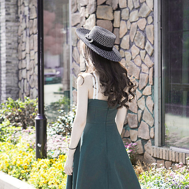 Shipping Hot Women Hat Summer Fashion Dress Straw Flower Ribbons Feathers Sun Shading 100 In Fedoras From S