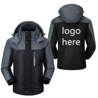 Men Winter Waterproof Windbreaker Jackets Thicken Outwear Coats Hoodeies Parkas Thermal Warm Custom DIY Design Outdoor Clothing