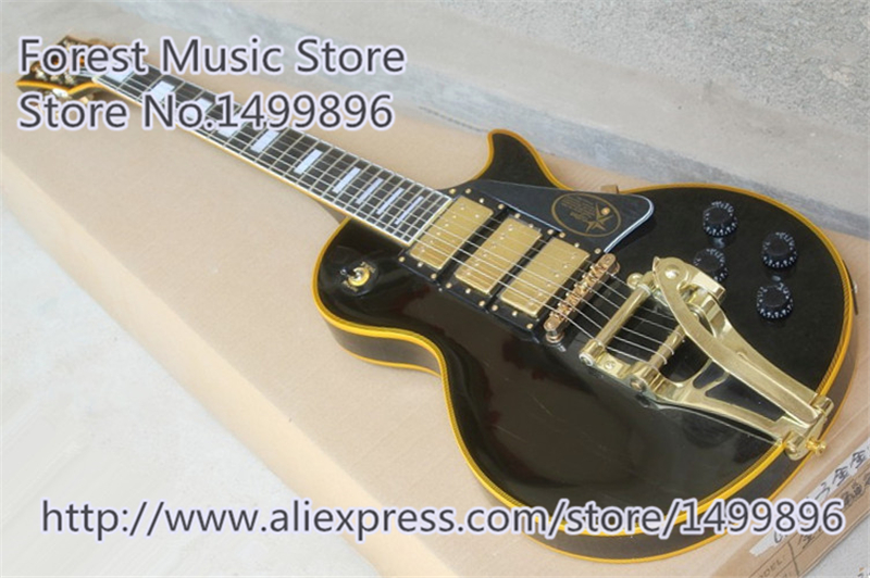 Hot Selling Jimmy Page Signature LP Custom Electric Guitars Chinese Gold Hardware Guitar In Stock wholesale cnbald 1959 custom signature electric guitar with bridge bigsby 20th anniversary in black 120323