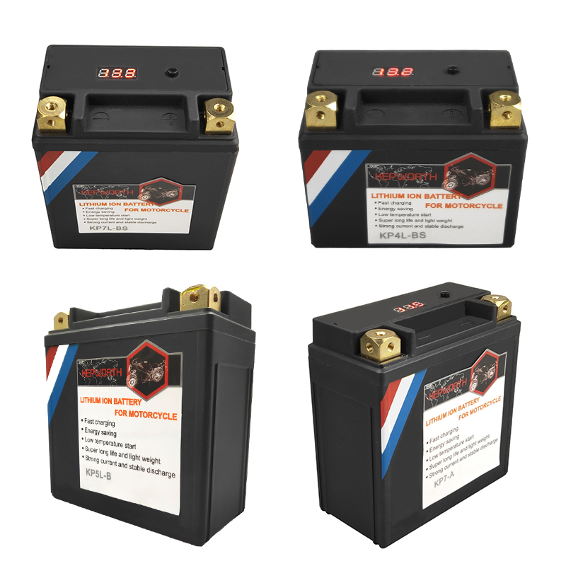 12V 4 5 7 9 10 12 14Ah CCA 180 200 280 300 350 450A LiFePO4 Motorcycle Battery LFP Motorbike BMS with Voltage Protection