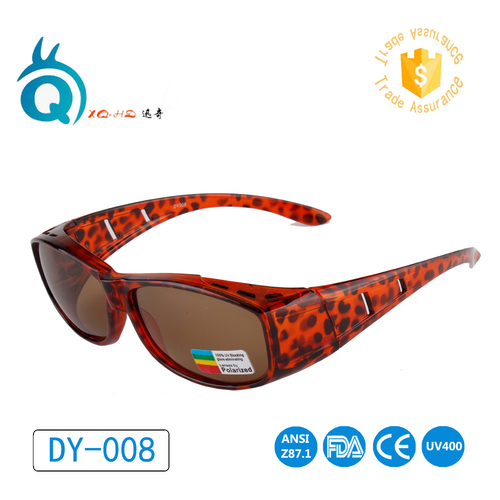 Perisai surya, Lensa terpolarisasi, UV400 cocok atas kacamata hitam, Memakai lebih dari kacamata resep untuk pria dan wanita, Kacamata penutup