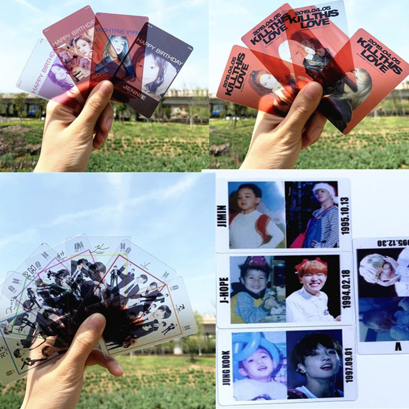 Hip-pop Bts Blackpink Birthday Cards Costume Props For Concerts,kpop Bts Blackpink Transparent Cards,hippop Pop Fan Gift,m003 Consumers First Novelty & Special Use Costume Props